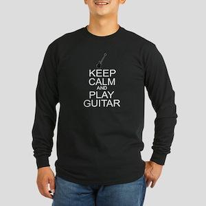Keep Calm Play Guitar (Electric) Long Sleeve Dark