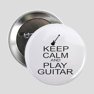 "Keep Calm Play Guitar (Electric) 2.25"" Button"