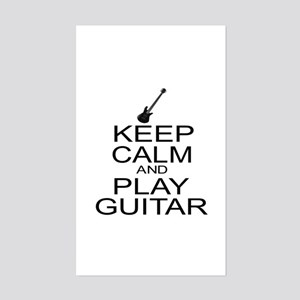 Keep Calm Play Guitar (Electric) Sticker (Rectangl