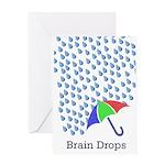 braindropsj Greeting Cards