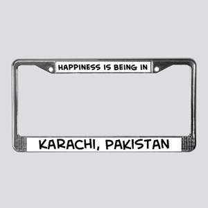 Happiness is Karachi License Plate Frame