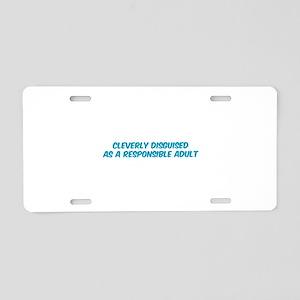 Responsible Parent Aluminum License Plate