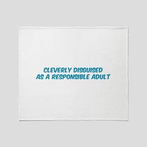Responsible Parent Throw Blanket