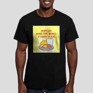 waffles Men's Fitted T-Shirt (dark)