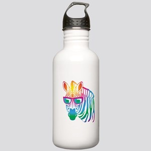 cool Zebra Stainless Water Bottle 1.0L