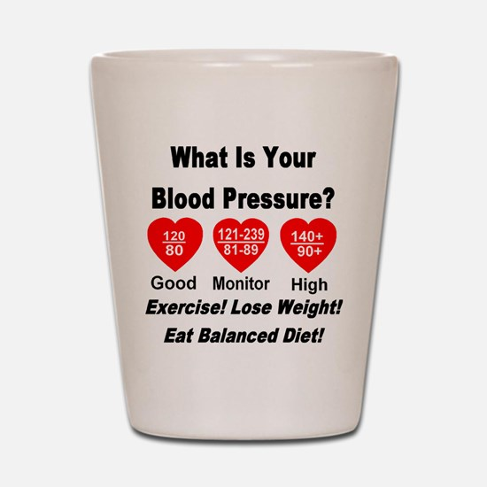 What Is Your Blood Pressure? Shot Glass