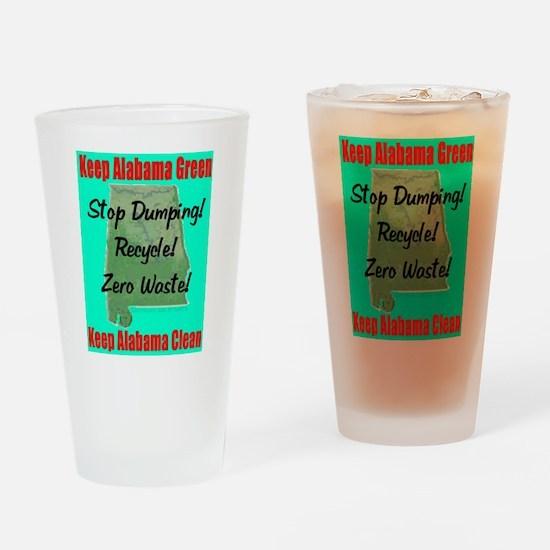Keep Alabama Green Drinking Glass