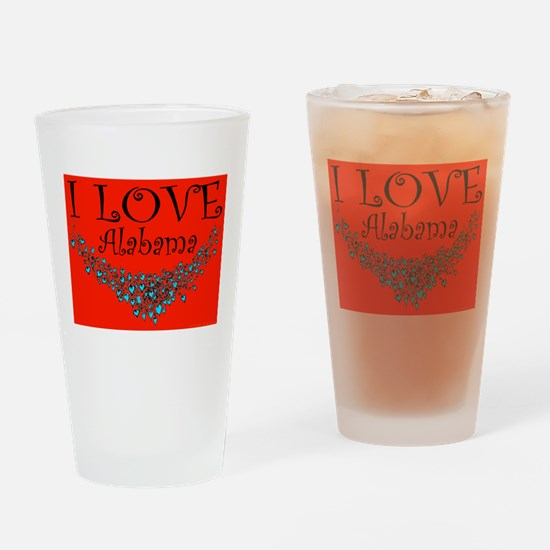 I Love Alabama Hot Affair Drinking Glass
