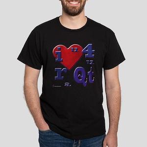 I Love You... Cutie Black T-Shirt