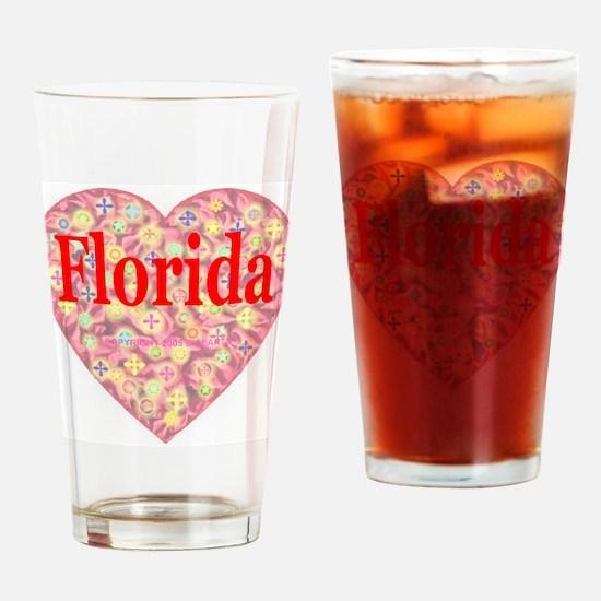 Florida Red Hot Starburst Hea Drinking Glass