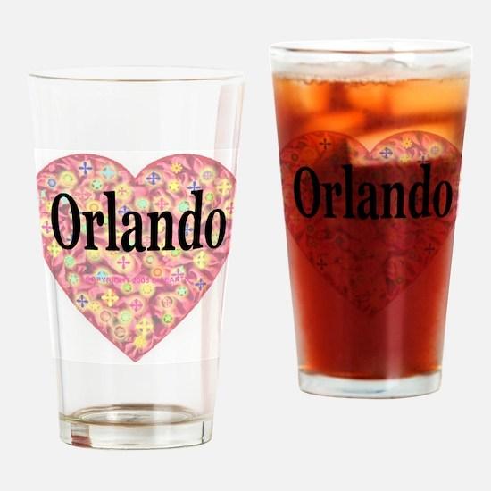 Orlando Starburst Heart Drinking Glass