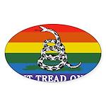 Rainbow Gadsden Flag Sticker