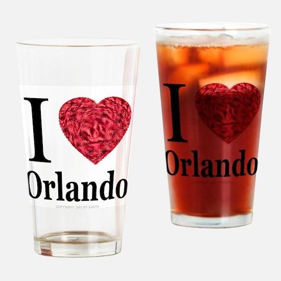I Love Orlando Drinking Glass