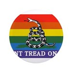Rainbow Gadsden Flag Button