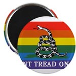 Rainbow Gadsden Flag Magnets