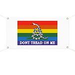 Rainbow Gadsden Flag Banner