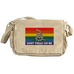 Rainbow Gadsden Flag Messenger Bag