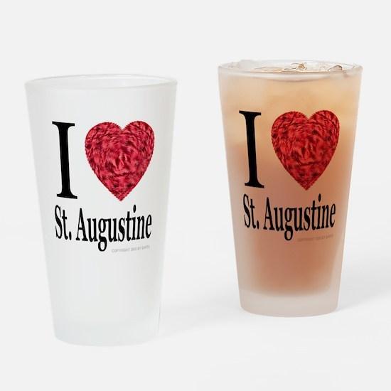 I Love St. Augustine Drinking Glass