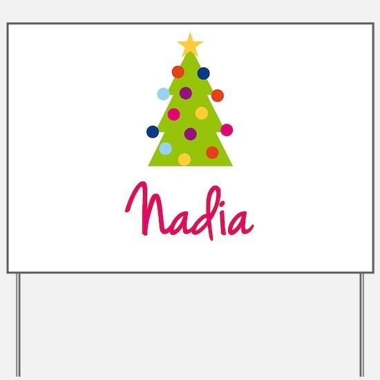 Christmas Tree Nadia Yard Sign