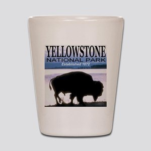 Bison Yellowstone National Pa Shot Glass