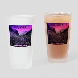 I Love Yosemite National Park Drinking Glass