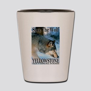 Save The Wolf YNP Large Print Shot Glass