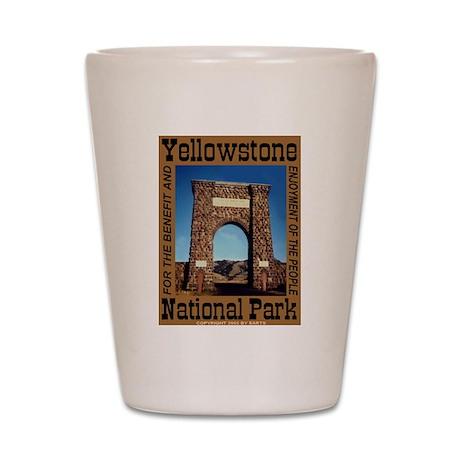 Roosevelt Arch YNP Shot Glass
