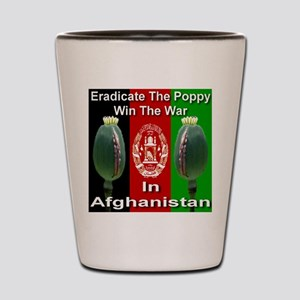 Eradicate The Poppy Shot Glass