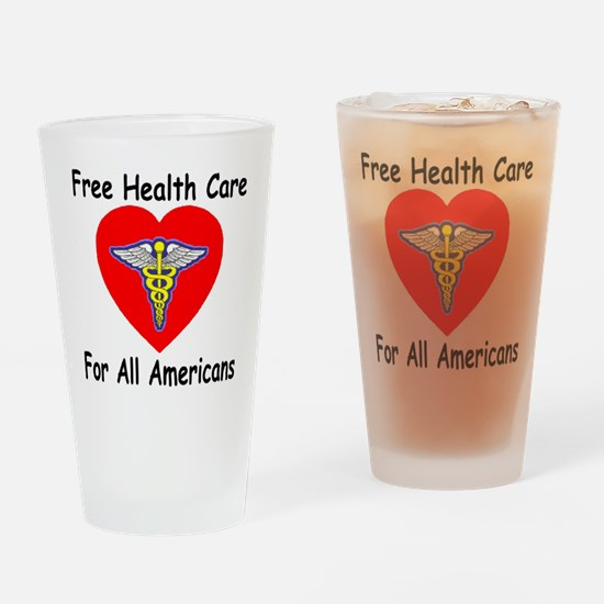 Free Health Care Drinking Glass