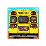 School Bus Sticker (Square 10 pk)