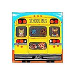 School Bus Sticker (Square 50 pk)