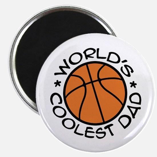 World's Coolest Basketball Dad Magnet