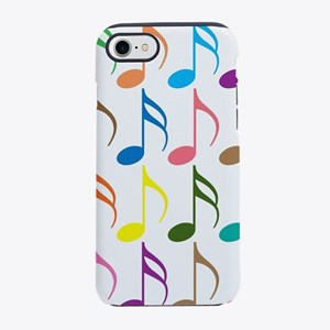 Colorful musical notes pattern iPhone 7 Tough Case