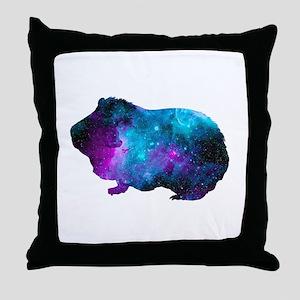 Galactic Guinea Pig Throw Pillow