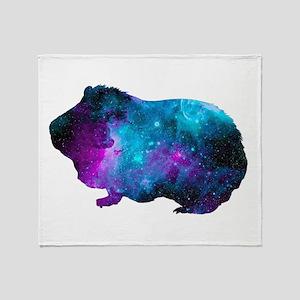 Galactic Guinea Pig Throw Blanket