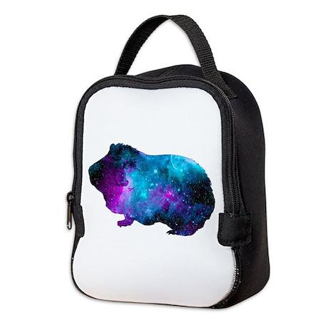 Galactic Guinea Pig Neoprene Lunch Bag