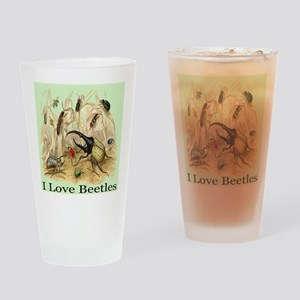 I Love Beetles Digitally Rema Drinking Glass