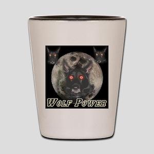 Wolf Power Shot Glass