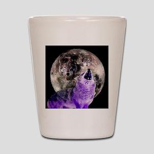 Three Moon Wolf Shot Glass