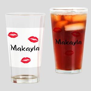 Makayla kisses Drinking Glass