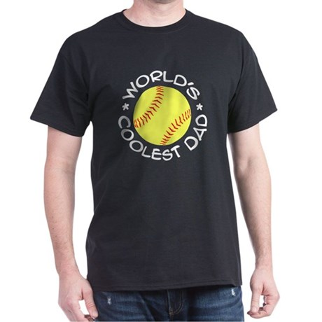 World's Coolest Softball Dad Dark T-Shirt