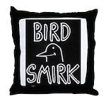 Bird Smirk Throw Pillow