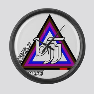 BJJ - Brazilian Jiu Jitsu - C Large Wall Clock