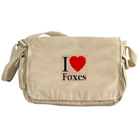 I Love Foxes Messenger Bag