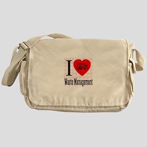 I Love Waste Management Messenger Bag