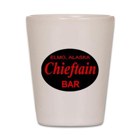 Chieftain Bar Elmo Alaska Shot Glass