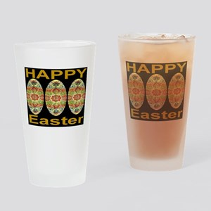Three Silk Tapestry Easter Eg Drinking Glass
