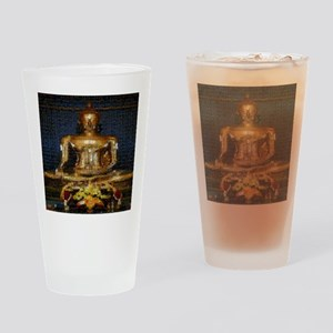 Golden Buddha Photo Montage Drinking Glass