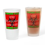 Swine Flu H1N1 Drinking Glass