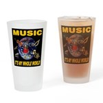 Music Instruments In Space Drinking Glass